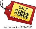 illustration of a price tag... | Shutterstock .eps vector #122940103