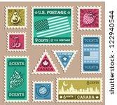 vector set of various vintage... | Shutterstock .eps vector #122940544