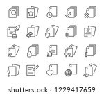 set of document icons  such as... | Shutterstock .eps vector #1229417659