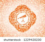 telescope icon inside abstract... | Shutterstock .eps vector #1229420230