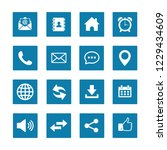 web icon set vector  contact us ... | Shutterstock .eps vector #1229434609