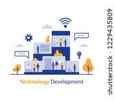 technology development ... | Shutterstock .eps vector #1229435809