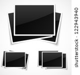 empty photo frames on white... | Shutterstock .eps vector #122943940