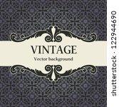vintage vector background | Shutterstock .eps vector #122944690