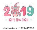 cute card design with cartoon...   Shutterstock .eps vector #1229447830