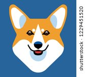the head of a dog breed corgi.... | Shutterstock .eps vector #1229451520