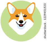 the head of a dog breed corgi.... | Shutterstock .eps vector #1229451523