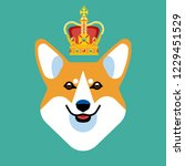 the head of a dog breed corgi... | Shutterstock .eps vector #1229451529