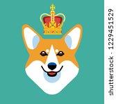 the head of a dog breed corgi... | Shutterstock .eps vector #1229451529
