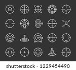 set of target line icons such... | Shutterstock .eps vector #1229454490