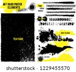 off road texture elements. all... | Shutterstock .eps vector #1229455570