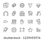 set of casino game vector line... | Shutterstock .eps vector #1229455576