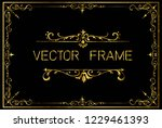 golden invitation floral frame... | Shutterstock .eps vector #1229461393