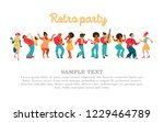 retro party. vector poster.... | Shutterstock .eps vector #1229464789