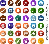 color back flat icon set  ... | Shutterstock .eps vector #1229466979