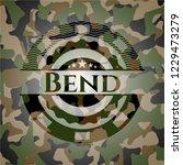 bend written on a camo texture   Shutterstock .eps vector #1229473279
