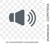 volume icon. trendy flat vector ... | Shutterstock .eps vector #1229475016
