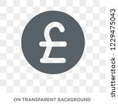 pound icon. trendy flat vector... | Shutterstock .eps vector #1229475043