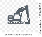 excavator icon. trendy flat... | Shutterstock .eps vector #1229478796