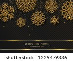 black merry christmas and happy ... | Shutterstock .eps vector #1229479336
