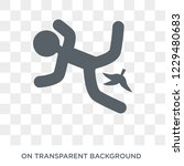 slippery icon. trendy flat...   Shutterstock .eps vector #1229480683