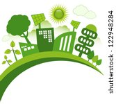 green modern city living... | Shutterstock .eps vector #122948284