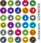 white solid icon set  soap... | Shutterstock .eps vector #1229482903