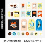 cute characters for gift tags ...   Shutterstock .eps vector #1229487946