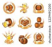 beer labels set. vector | Shutterstock .eps vector #1229492200
