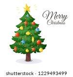 merry christmas card. cartoon...   Shutterstock .eps vector #1229493499