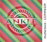 ankle christmas badge. | Shutterstock .eps vector #1229496109