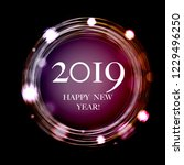 2019 new year postcard with... | Shutterstock .eps vector #1229496250