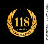 118 years anniversary. elegant... | Shutterstock .eps vector #1229496583