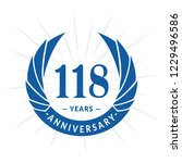 118 years anniversary. elegant... | Shutterstock .eps vector #1229496586