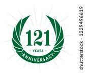 121 years anniversary. elegant... | Shutterstock .eps vector #1229496619
