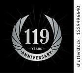 119 years anniversary. elegant... | Shutterstock .eps vector #1229496640