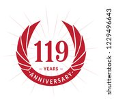 119 years anniversary. elegant... | Shutterstock .eps vector #1229496643