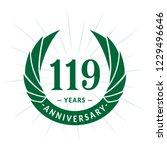 119 years anniversary. elegant... | Shutterstock .eps vector #1229496646
