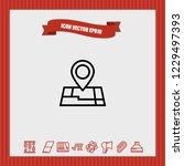location map icon vector   Shutterstock .eps vector #1229497393