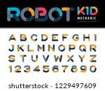 vector of modern robot and...   Shutterstock .eps vector #1229497609