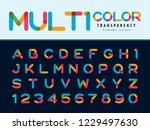 vector of modern alphabet... | Shutterstock .eps vector #1229497630