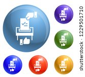 make political choice icons set ...