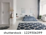 patterned carpet in spacious... | Shutterstock . vector #1229506399