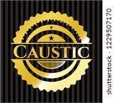 caustic gold badge | Shutterstock .eps vector #1229507170