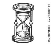 sand watch glass engraving... | Shutterstock .eps vector #1229508469