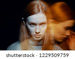 multiple exposure of beautiful... | Shutterstock . vector #1229509759