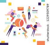 vector illustration concept of... | Shutterstock .eps vector #1229509789