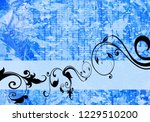 floral background design | Shutterstock . vector #1229510200