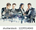 attractive european team... | Shutterstock . vector #1229514043
