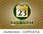 gold badge or emblem with... | Shutterstock .eps vector #1229516716